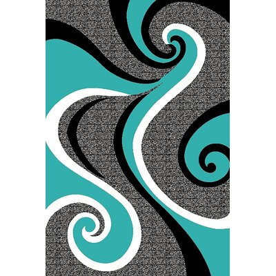 Mccampbell 3D Abstract Turquoise/Gray Area Rug Rug Size: Rectangle 5' x 7'