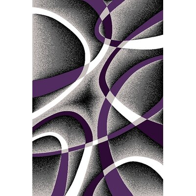 Mccampbell 3D Abstract Purple/Gray Area Rug Rug Size: Rectangle 2 x 4