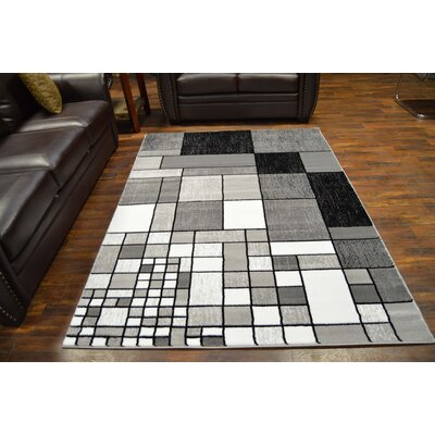 Bella Modern Contemporary Gray Area Rug