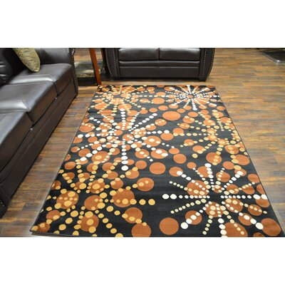 Bella Modern Contemporary Chocolate Area Rug