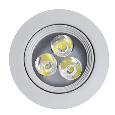 3.5 LED Recessed Retrofit Downlight Finish: White
