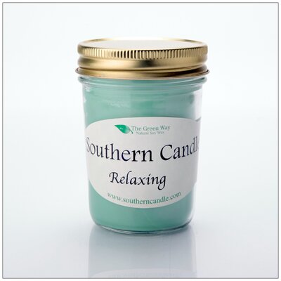 Relaxing Scented Jar Candle 08HRELAX