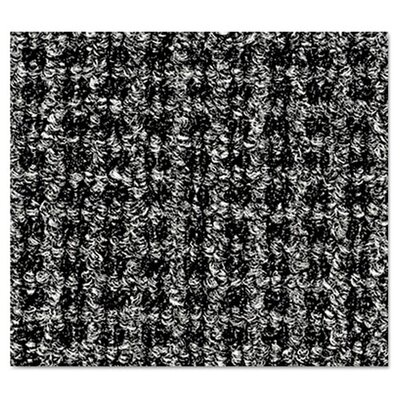 Oxford Doormat Rug Size: 4 x 6, Color: Black/Gray