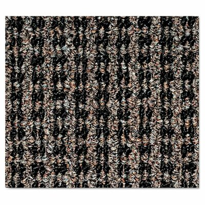 Oxford Wiper Doormat Mat Size: 36 H x 60 W, Color: Black/Brown