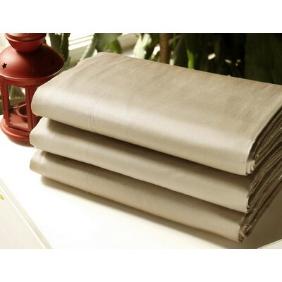 Gilley 300 Thread Count 100% Cotton Flat Sheet Color: Khaki