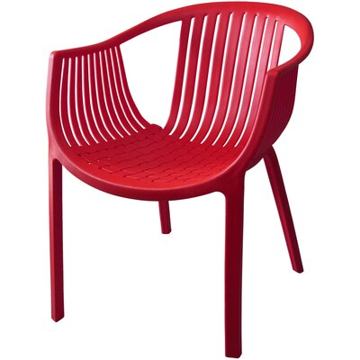 Comodo Dining Chair Color: Red, Number Of Chairs: 4