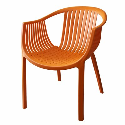 Comodo Dining Chair Color: Orange, Number Of Chairs: 4