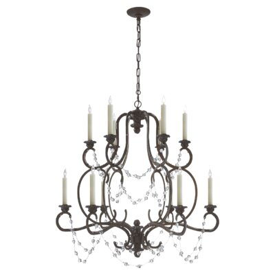 Lombardy 12-Light Candle-Style Chandelier