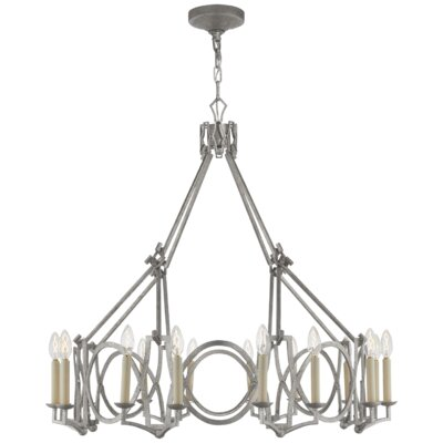 Brittany 16-Light Candle-Style Chandelier Finish: Venetian Silver