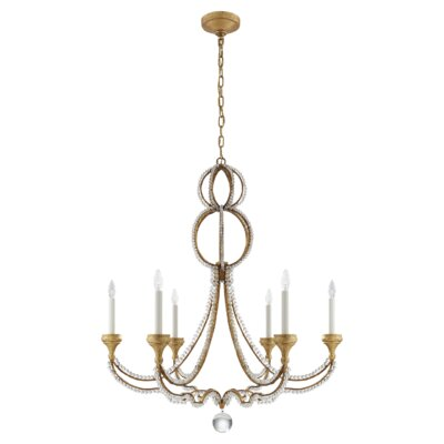 Milan 6-Light Candle-Style Chandelier Finish: Venetian Gold