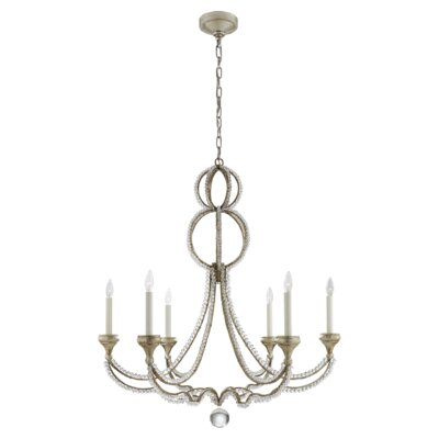 Milan 6-Light Candle-Style Chandelier Finish: Venetian Silver
