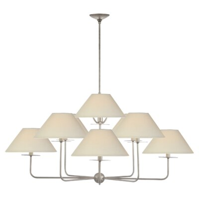Kelley 9-Light Candle-Style Chandelier Finish: Burnished Silver Leaf