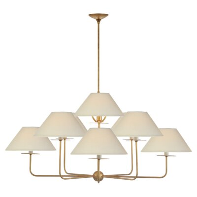 Kelley 9-Light Candle-Style Chandelier Finish: Gilded Iron