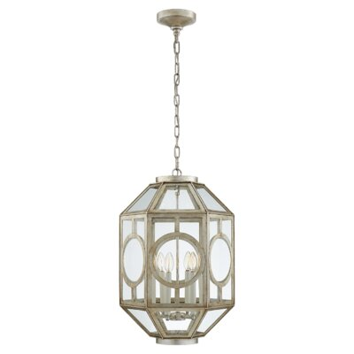 6-Light Lantern Pendant Finish: Burnished Silver Leaf