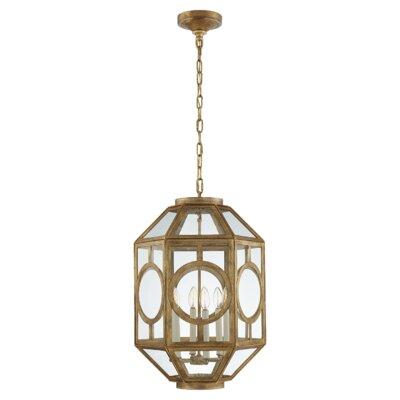 6-Light Lantern Pendant Finish: Gilded Iron