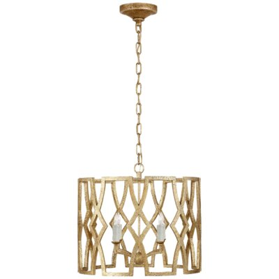 Brittany 4-Light Lantern Pendant Finish: Venetian Gold