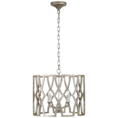 Brittany 4-Light Lantern Pendant Finish: Venetian Silver