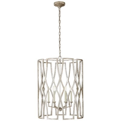 Brittany 6-Light Lantern Pendant Finish: Venetian Silver
