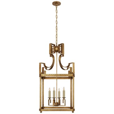 Severn 4-Light Lantern Pendant Finish: Gilded Iron