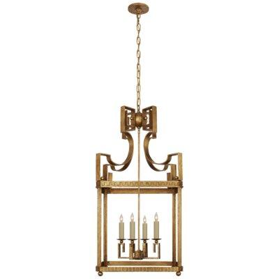 Severn 4-Light Lantern Pendant Finish: Gilded Iron