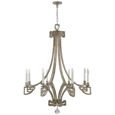 Gallina 8-Light Candle-Style Chandelier Finish: Antique Silver Leaf
