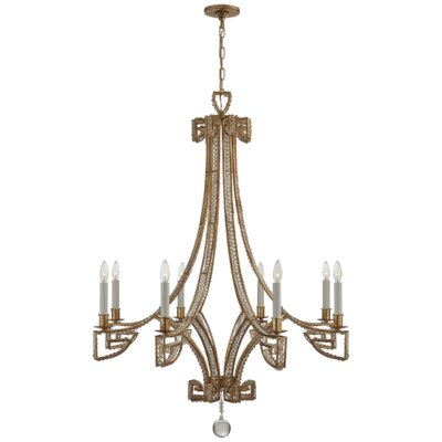 Gallina 8-Light Candle-Style Chandelier Finish: Gilded Iron