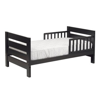 Modena Toddler Panel Bed Finish: Ebony Black
