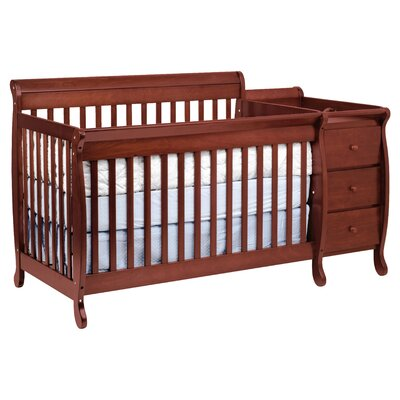 DaVinci Kalani 4-in-1 Convertible Crib and Changer Combo - Finish: Cherry at Sears.com