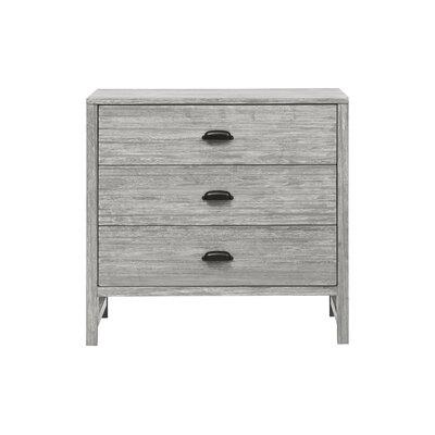 Fairway 3 Drawer Dresser Color: Gray