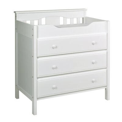 Jayden 3 Drawer Changer Dresser Finish: White M5925W