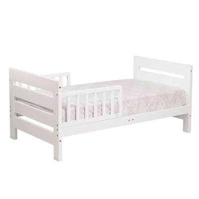 Modena Toddler Panel Bed Finish: White