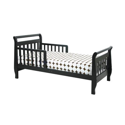 Sleigh Toddler Sleigh Bed Finish: Ebony Black