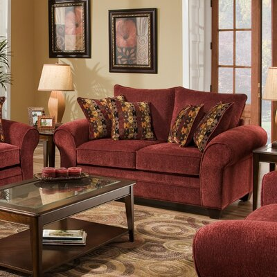 American Furniture Clayton Chenille Loveseat - Color: Burgundy at Sears.com