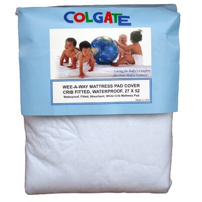 Colgate Wee-A-Way Waterproof Fitted Crib Mattress Cover at Sears.com