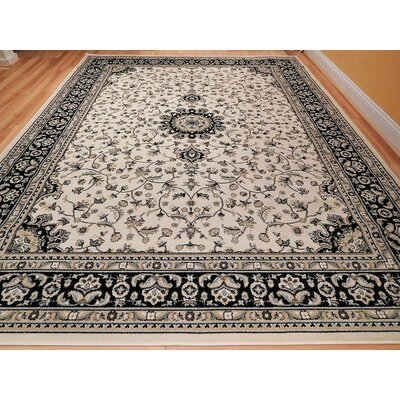 Montanez One-of-a-Kind Wool Ivory Area Rug