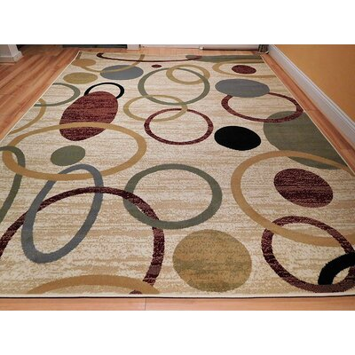Lazarescu One-of-a-Kind Wool Ivory Area Rug