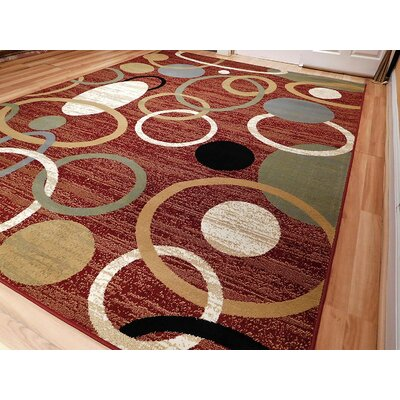 Jolicoeur One-of-a-Kind Wool Red Area Rug