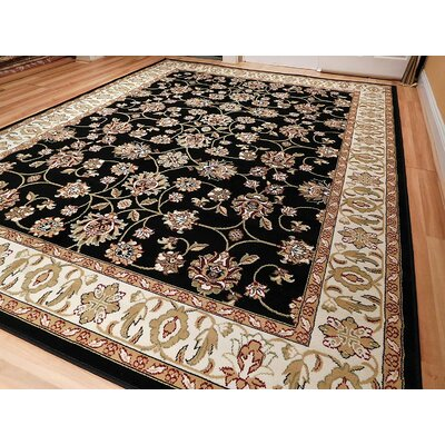 Renteria One-of-a-Kind Wool Black Area Rug