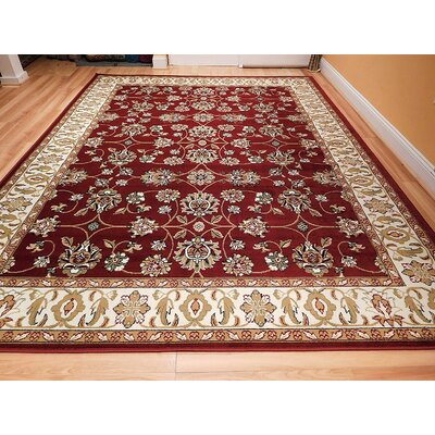 Renwick One-of-a-Kind Wool Red Area Rug