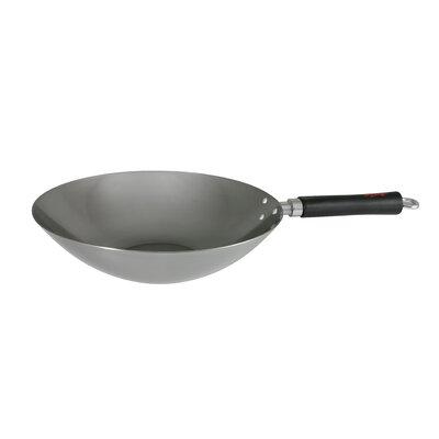 30 cm Wok Spice aus Karbonstahl | Küche und Esszimmer > Kochen und Backen > Pfannen | Silber | Edelstahl | Dexam