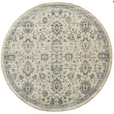 Park Transitional Ivory Indoor/outdoor Area Rug Rug Size: Round 6