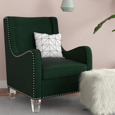 Nixon Wingback Chair Upholstery Color: Green