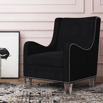 Nixon Wingback Chair Upholstery Color: Black
