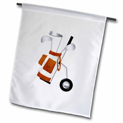 "Golf Cart on Wheels Polyester 1'6"" x 1' Garden Flag fl_56036_1"