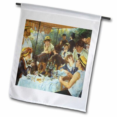 "The Luncheon of the Boating Party Polyester 2'3"" x 1'6"" Garden Flag fl_127354_2"
