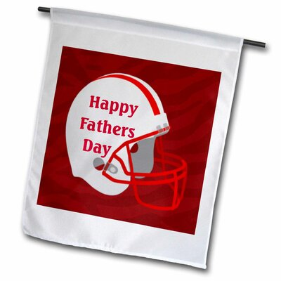 "Happy Fathers Day on Giant Football Helmut Polyester 1'6"" x 1' Garden Flag fl_204984_1"