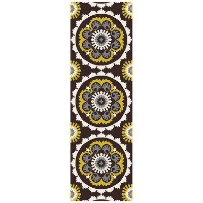 Mosaic Charcoal/Butter Area Rug Rug Size: Runner 26 x 8