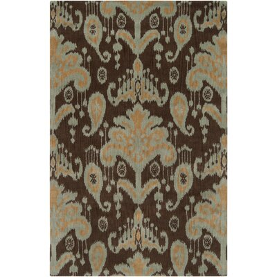 Mosaic Cocoa/Orange Area Rug Rug Size: 9 x 13
