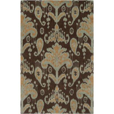 Mosaic Cocoa/orange Area Rug Rug Size: 9