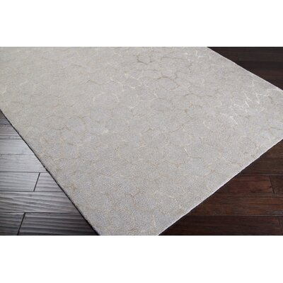 Moderne Beige/Warm Beige Area Rug Rug Size: Rectangle 33 x 53